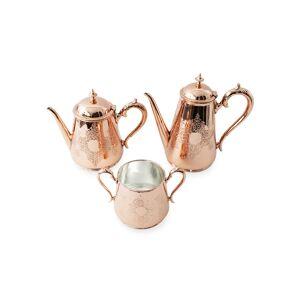 Coppermill Kitchen Copper & Silver Coffee/Tea Set (Late 19th Century)