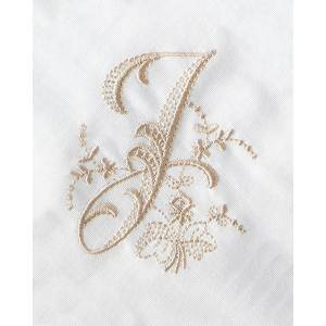 Boutross Imports Initial Monogrammed Dinner Napkins, Set of 4