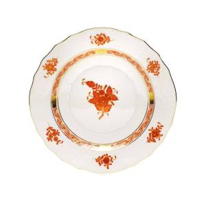 Herend Rust Chinese Bouquet Salad Plate - RUST