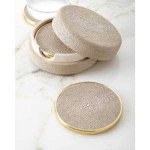 AERIN Faux-Shagreen Coasters  - Size: unisex