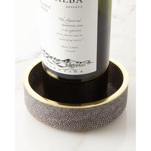 AERIN Faux-Shagreen Wine Coaster  - Size: unisex