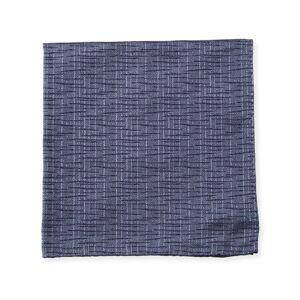 Emporio Armani Men's Crinkled Patterned Silk Pocket Square