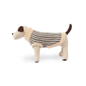 Harry Barker Cabin Stripe Knit Dog Sweater, Extra Large