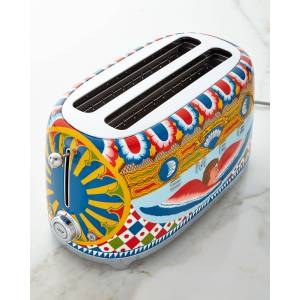 Smeg Dolce Gabbana x SMEG Sicily Is My Love 4-Slice Toaster  - Size: unisex