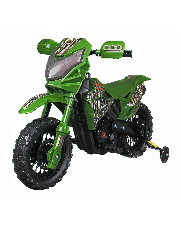 Best Ride on Cars Kid's Realtree Dirt Bike, Camo Green