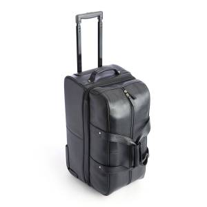 ROYCE New York Executive Rolling Duffle Suitcase - BLACK