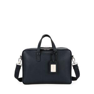 Giorgio Armani Men's Double-Zip Leather Briefcase Bag - MULTI