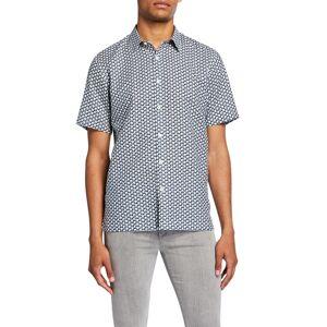 Theory Men's Dash-Print Linen/Cotton Short-Sleeve Sport Shirt