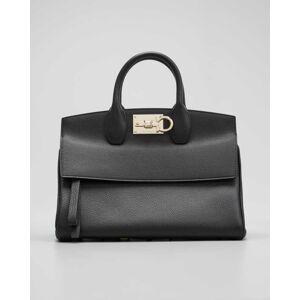 Salvatore Ferragamo Studio Top-Handle Bag  - female - CARAWAY SEED