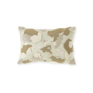 Olivia Quido Bead Embroidered Decorative Pillow  - Size: unisex