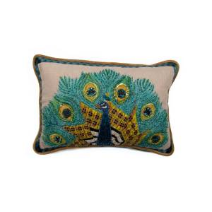 MacKenzie-Childs Peacock Lumbar Pillow  - Size: unisex