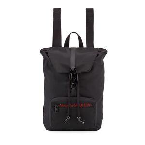 Alexander McQueen Men's Logo Messenger Backpack  - male - BLACK