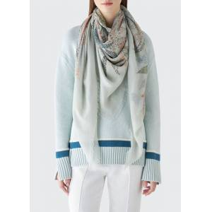 Loro Piana Exotic Val Rahmeh Cashmere/Silk Scarf  - female - BABY BLUE
