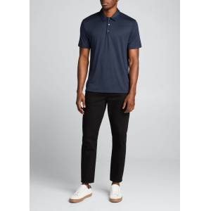 Theory Men's Modal Jersey Polo Shirt  - male - ECLIPSE MULTI - Size: Extra Large