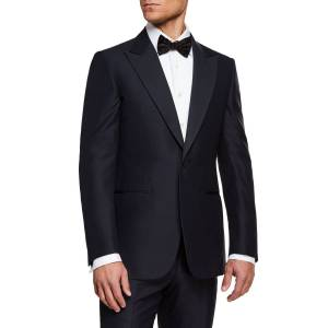 Ermenegildo Zegna Men's Silk-Lapel Wool Two-Piece Tuxedo Suit  - male - NAVY - Size: 52R EU (41R US)