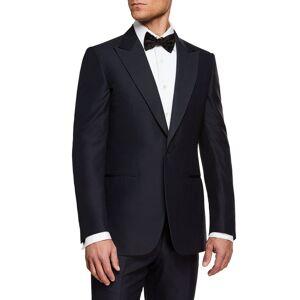 Ermenegildo Zegna Men's Silk-Lapel Wool Two-Piece Tuxedo Suit  - male - NAVY - Size: 56L EU (44L US)