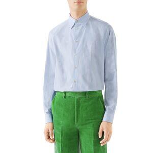 Gucci Men's Striped Button-Down Cotton Shirt