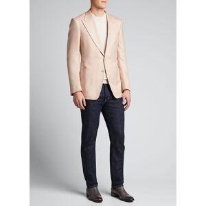 TOM FORD Men's Shelton Silk Canvas Blazer  - male - PINK - Size: 52R EU (41R US)