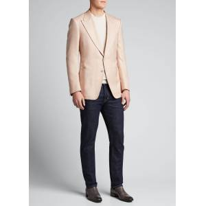TOM FORD Men's Shelton Silk Canvas Blazer  - male - PINK - Size: 54L EU (43L US)
