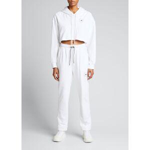 adidas by Stella McCartney Drawstring Logo Sweatpants  - female - WHITE - Size: Medium