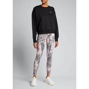 adidas by Stella McCartney Fleece Crewneck Sweatshirt  - female - BLACK - Size: Large