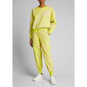 adidas by Stella McCartney Printed Drawstring Sweatpants  - female - ACIYELPEAROS - Size: Small
