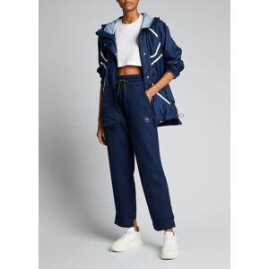 adidas by Stella McCartney Logo Drawstring Sweatpants  - female - CONAVY - Size: Large