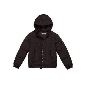 Stone Island Down Puffer Jacket with Hood, Size 8-10