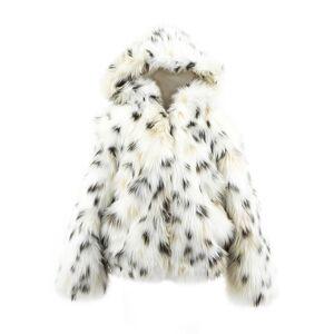 Fabulous Furs Spotted Faux-Fur Parka, Size XXS-L  - female - SNOW LEOPARD - Size: Small