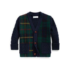 Ralph Lauren Boy's Mixed Plaid Knit Sweater Cardigan, Size 6-24 Months