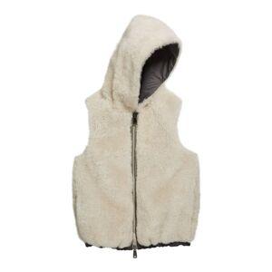 Brunello Cucinelli Girl's Reversible Nylon Fur Hooded Vest, Size 6
