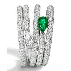 De Grisogono One-of-a-Kind Pear Diamond & Emerald Bracelet