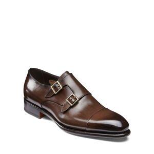Santoni Men's Ira Double-Monk Loafers  - male - BROWN - Size: 8.5D