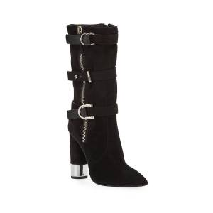 Giuseppe Zanotti Tall Suede Buckle Boots