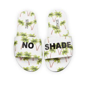 Schutz No Shade Printed Leather Slides