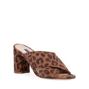 Stuart Weitzman Galene Cheetah-Print Sandals