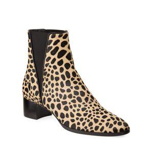 Giuseppe Zanotti Leopard Gored Chelsea Booties  - female - LEOPARD - Size: 7.5B / 37.5EU