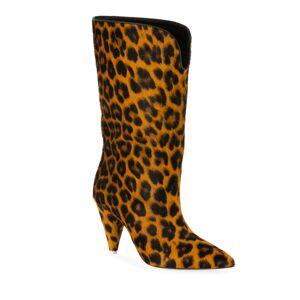 The Attico Leopard Calf Hair Boots  - female - LEOPARD - Size: 9B / 39EU
