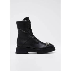 Jimmy Choo Hadley Leather Combat Boots