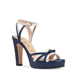 Gucci Alison Two-Tone Leather Bow Platform Sandals