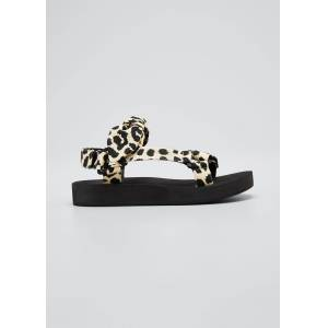 Loeffler Randall Maisie Leopard-Print Sport Strap Sandal