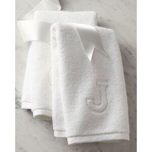 Matouk Auberge Monogrammed Hand Towel  - unisex - WHITE - Size: E