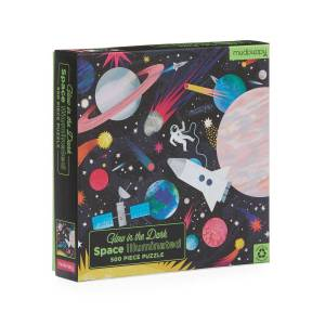Hachette Book Group Space Illuminated 500-Piece Glow in the Dark Family Puzzle