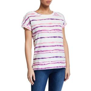 Marc NY Performance Tie-Dye Terry Lace-Up Sleeve Top
