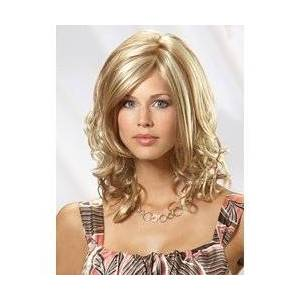 Princess Lovely Princess Medium Curly Light Blonde Synthetic Hair Wig 16 Inches