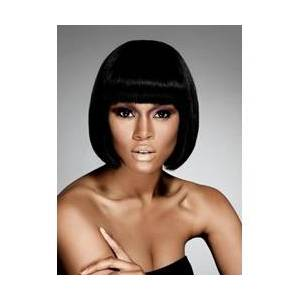 Smart Elegant Short Straight Bob Hairstyle Synthetic Capless Wigs for African American Women