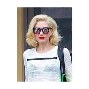 Gwen-Stefani Shoulder Length Wavy Synthetic Hair Lace Front Wig 12 Inches