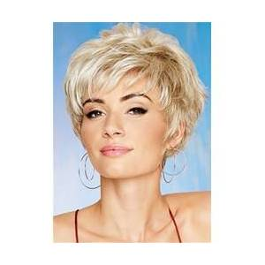 Short Layered With Bang Synthetic Hair Lace Front Cap Wig