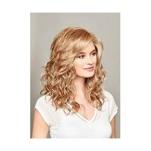 Medium Hairstyle Womens Blonde Color 100% Human Hair Wigs Lace Front Cap Wigs 20Inches
