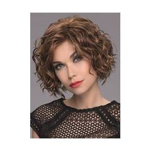 Womens Mid-Length Style Full Curls Synthetic Hair Wigs Natural Hairline Lace Front Wigs 14Inch
